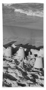 Sand Castles By The Shore Beach Towel