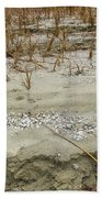 Sand Stone And Reeds Beach Towel
