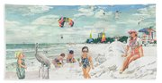 Sandcastles On Siesta Key Public Beach Beach Towel