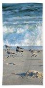 Sandpipers Running Everywhere Beach Sheet