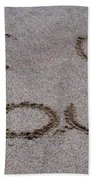 Sandscript - I Love You Beach Towel