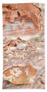 Sandstone Colors In Wash 3 - Valley Of Fire Beach Towel