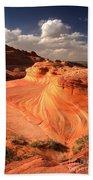 Sandstone Dragon Portrait View Beach Towel