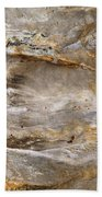 Sandstone Formation Number 2 At Starved Rock State Beach Towel