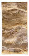 Sandstone Formation Number 3 At Starved Rock State Beach Towel