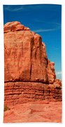 Sandstone Monolith, Courthouse Towers, Arches National Park Beach Towel