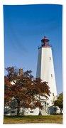 Sandy Hook Lighthouse Beach Towel