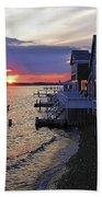Sandy Neck Sunset At The Cottages Beach Towel
