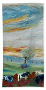 Sandy Ridge Cattle Beach Towel