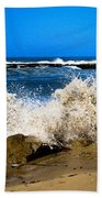 Sandy Surf Splash Beach Towel