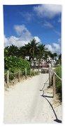 Sandy Trail Miami Florida Beach Towel