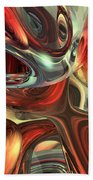 Sanguine Abstract Beach Towel