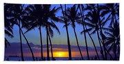 Sans Souci Sunset Waikiki Beach Towel