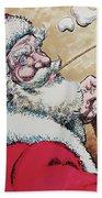 Santa And Teddy Beach Towel