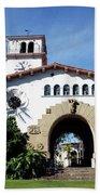Santa Barbara Courthouse -by Linda Woods Beach Towel