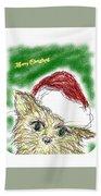 Santa Cat Beach Sheet
