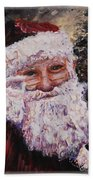 Santa Chat Beach Towel