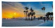 Santa Monica Sunset Beach Towel