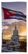 Santiago De Cuba Dusk Beach Towel