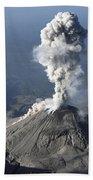 Santiaguito Ash Eruption, Guatemala Beach Towel by Martin Rietze