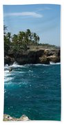 Santo Domingo Coastal View. Beach Towel