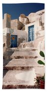 Santorini Entryway Beach Towel