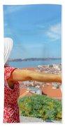 Sao Jorge Castle Overlook Beach Towel