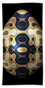 Sapphire And Gold Imperial Easter Egg Beach Towel