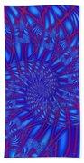 Sapphire Swirl Beach Towel