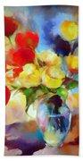 Sara's Colorful Bouquet  Beach Towel
