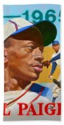 Satchel Paige Beach Towel by Cliff Spohn