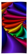 Satin Rainbow Beach Towel