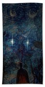 Saturnine Night Beach Towel