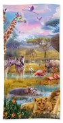 Savannah Animals Beach Towel