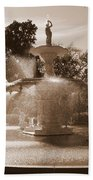 Savannah Sepia - Forsyth Fountain Beach Towel
