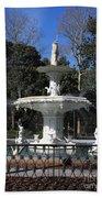 Savannah Square Fountain Beach Towel