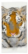 Save The Tiger Beach Towel