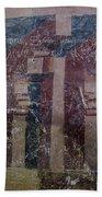 Saxon Medieval Frescoes, Transylvania Beach Towel