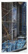 Scaffolding In The City Beach Towel