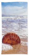 Scallop Shell On The Beach - Impressions Beach Towel