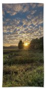Scalloped Morning Skies Beach Towel