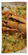 Scampi Risotto Beach Towel
