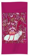 Scapegoat Healing In Fuchsia Beach Towel