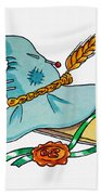 Scarecrow Hat From Wizard Of Oz Beach Towel