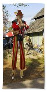 Scarecrow Walking On Stilts Beach Towel