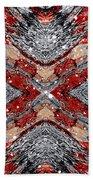 Scarlet Entanglement Beach Towel