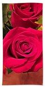 Scarlet Roses Beach Towel