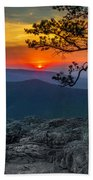 Scarlet Sky At Ravens Roost Beach Towel