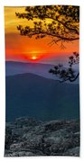 Scarlet Sky At Ravens Roost Panorama I Beach Towel