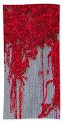 Scarlet Squiggle Beach Towel